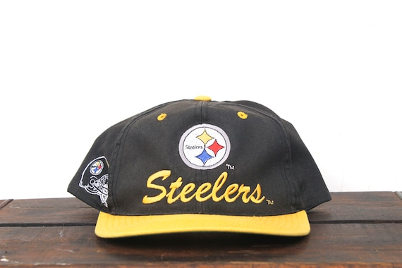 dc259fd34 Vintage 90 s Pittsburgh Steelers Football NFL Hat Snapback
