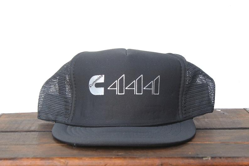 7557bba097413 Vintage Trucker Hat Snapback Hat Baseball Cap White Cummins C