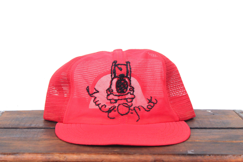 Vintage Trucker Hat Snapback Hat Baseball Cap Hand Embroidered  6a163e8edb44