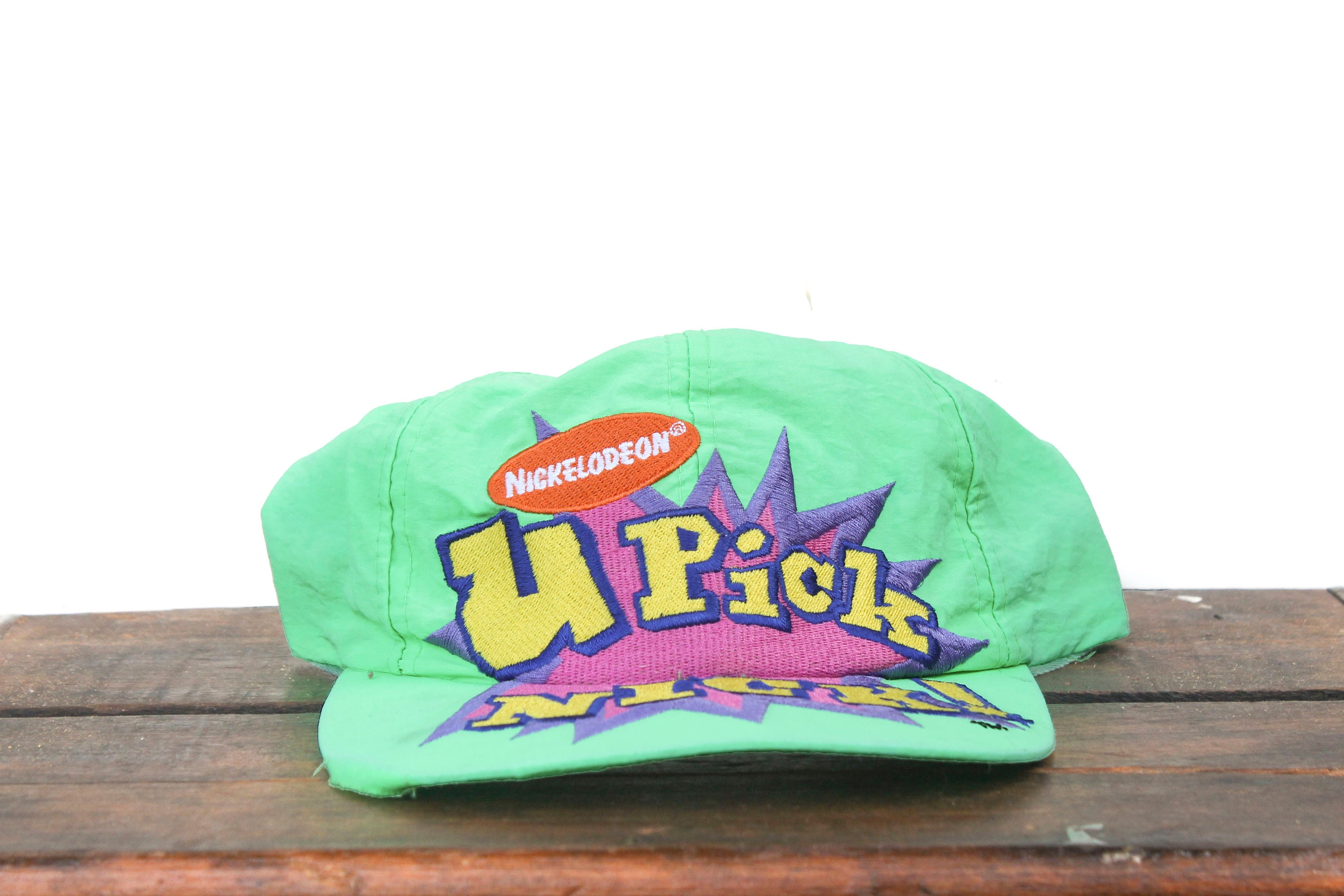 super popular 41c48 3e771 Vintage 90 s Neon Green U Pick Nick Nickelodeon TV Show   Etsy