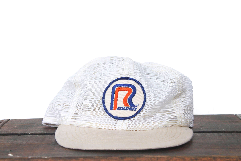 Vintage Trucker Hat Snapback Hat Baseball Cap White Full Mesh  38736e57b03c