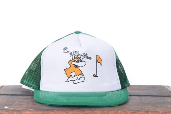 Vintage Trucker Hat Snapback Hat Baseball Cap Angry Duck  f88eb1c200c3