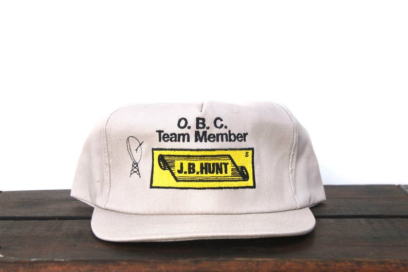 premium selection 66a13 6f74d Vintage Trucker Hat Snapback Hat Baseball Cap J.B. Hunt   Etsy