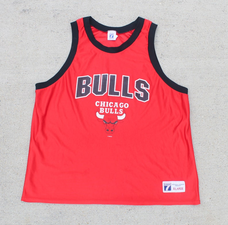 quality design 448de bfc8f Vintage 80's Logo 7 Chicago Bulls NBA Basketball Jersey Athletics Tank Top  Made In USA XL