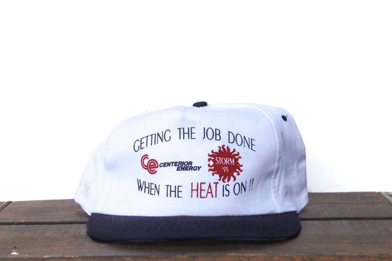 402c3e5b34e Vintage Trucker Hat Snapback Hat Baseball Cap Get The Job Done
