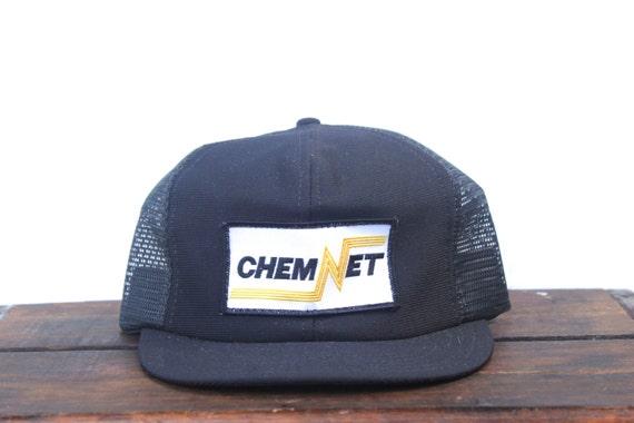 Vintage Trucker Hat Snapback Hat Baseball Cap ChemNet Chemical  c2cf8b3fd14e