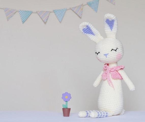 Häkeln Sie Amigurumi schläfrig Bunny Muster nur PDF Hase