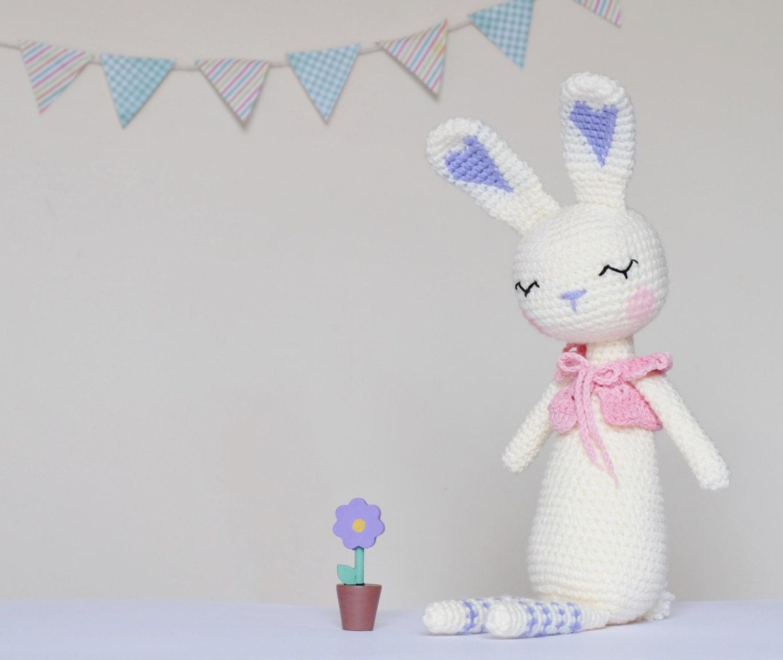 Crochet Amigurumi Bunny sueño patrón único PDF conejo peluche | Etsy