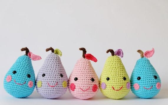 Häkeln Amigurumi glücklich Birnen Muster nur PDF-sofortiger | Etsy