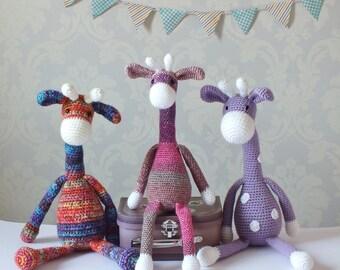Crochet Giraffe Amigurumi Pattern PATTERN ONLY PDF Download Children Cute Toy Giraffe Gift crochet pattern Baby