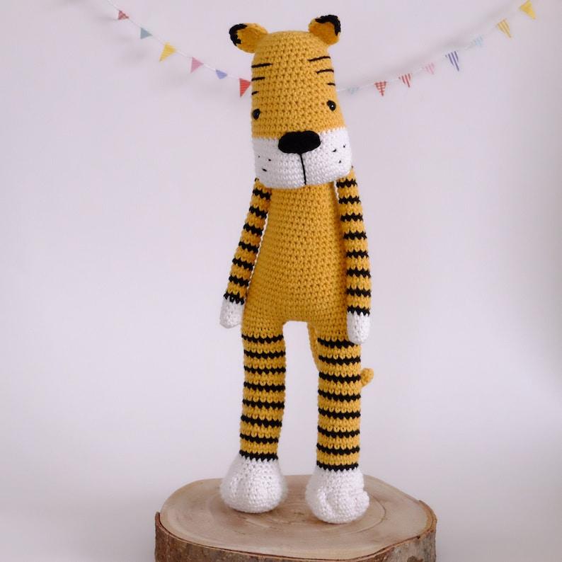 Amigurumi PATTERN Smudge the Tiger Crochet PDF  Download diy image 0