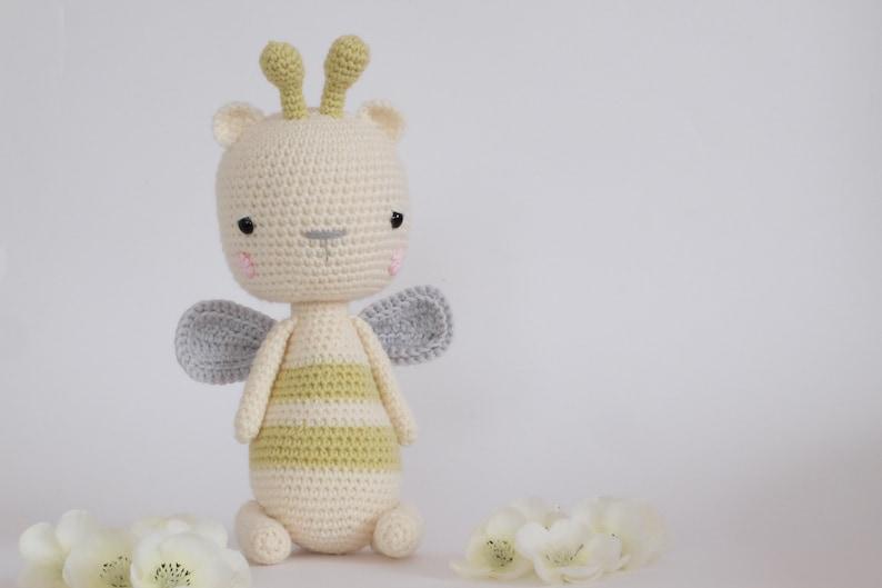 Crochet Amigurumi Honey The Bee Stuffed Animal Pattern Only Etsy