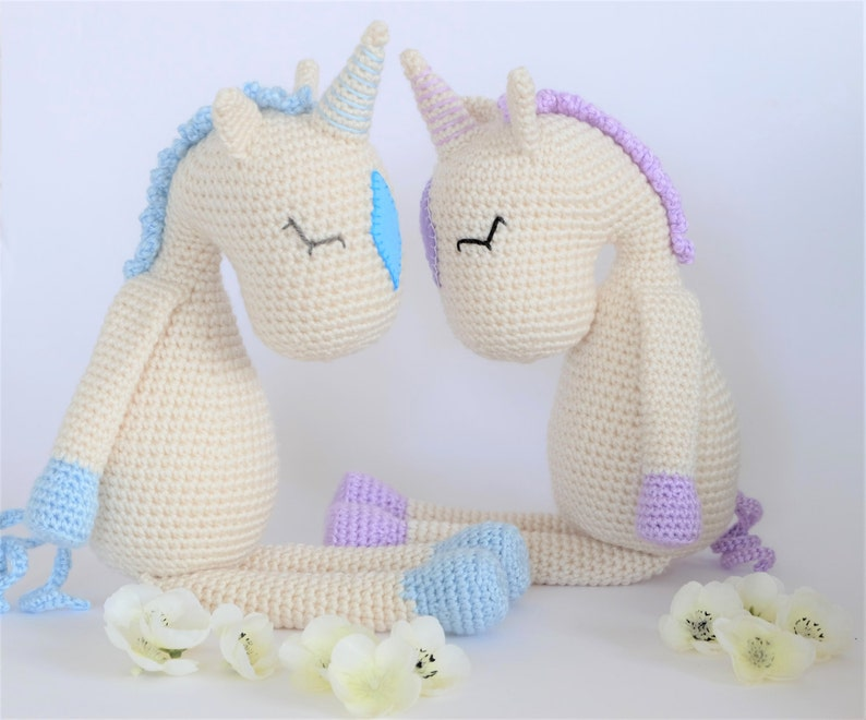 Crochet Amigurumi Flossie The Unicorn Stuffed Animal Pattern Etsy