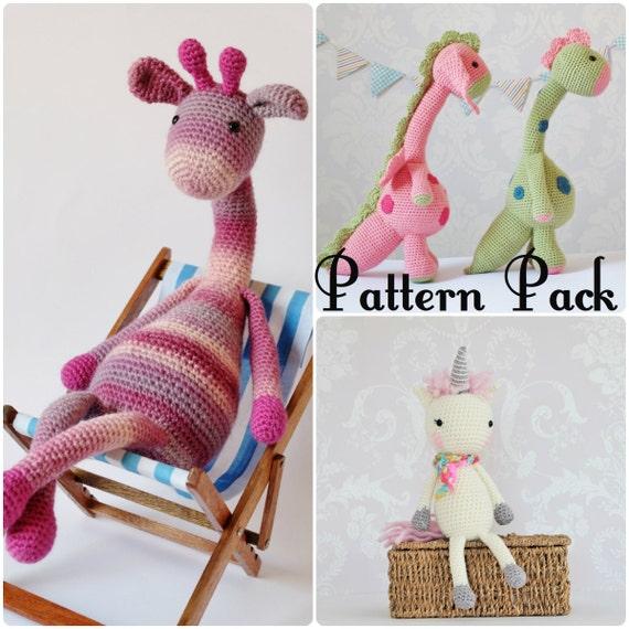 Crochet Amigurumi patrón de juguete Pack Oferta especial | Etsy