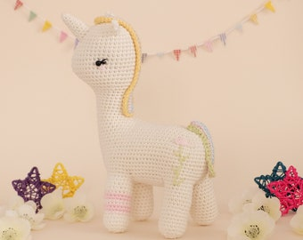 Crochet Amigurumi Cupcake the Unicorn Stuffed Animal PATTERN ONLY PDF Download Toy