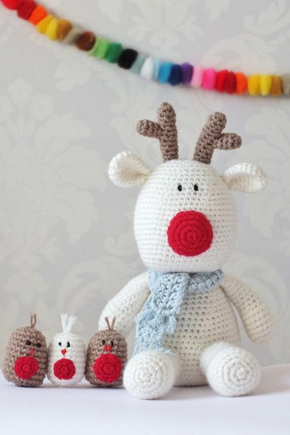 Crochet el reno Rudolf Amigurumi patrón único PDF fácil | Etsy