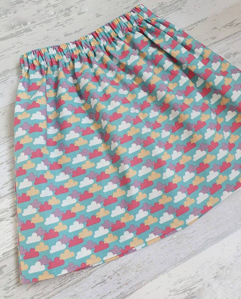 cloud print 7 years Cloud skirt summer skirt girls cloud clothing made to order 3 months