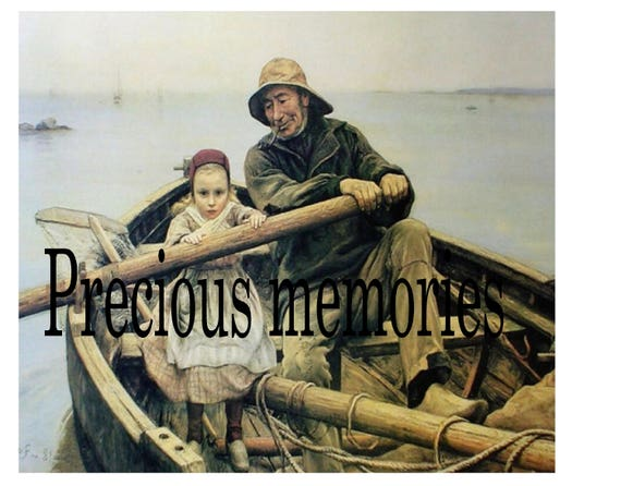 Helping Hand 1881 Emile Renouf Fisherman Boating Old Etsy