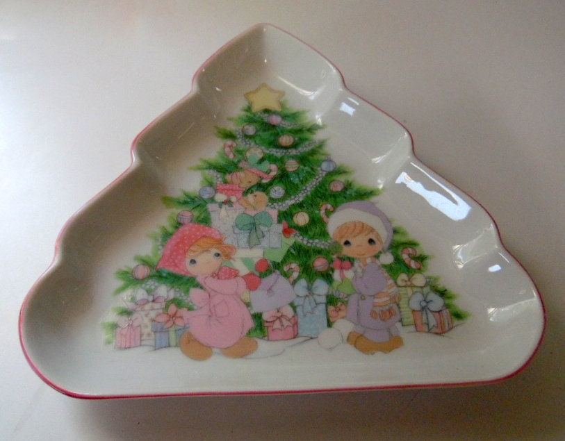 1992 Precious Moments Christmas Tree Collector Plate Enesco Made