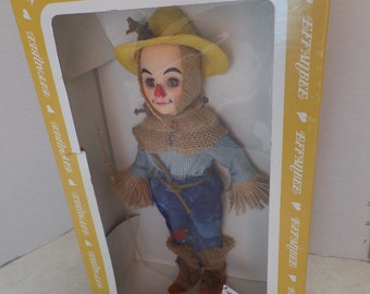 "Effanbee, 1985 Wizard of Oz doll, Scarecrow, 11"" vinyl, tagged and NRFB. Movie collectibles, movie dolls, scarecrow doll, Vintage dolls"