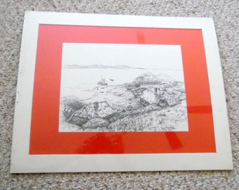 Tranquility Cove is nicely matted, and still in original packaging. Lovely Pen & Ink poste