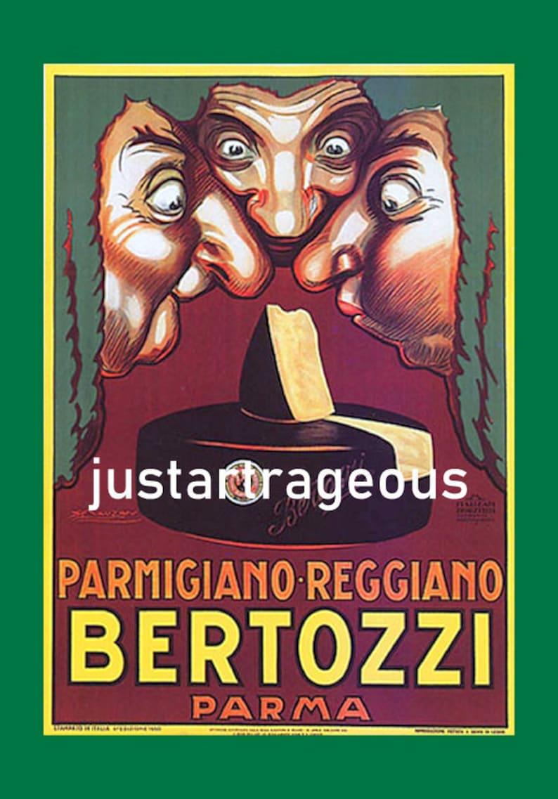 Bertozzi Parma Parmigiano Reggiano Cheese Vintage Italian Etsy