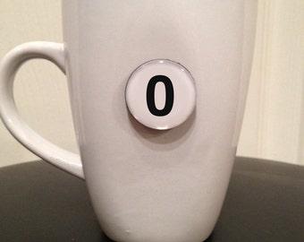 Mini Quote Magnet   Number '0' (zero)