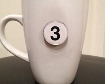 Mini Quote Magnet   Number '3'