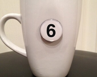 Mini Quote Magnet   Number '6'