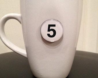 Mini Quote Magnet   Number '5'