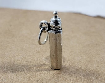 Sterling Silver 3D Baby Bottle Charm