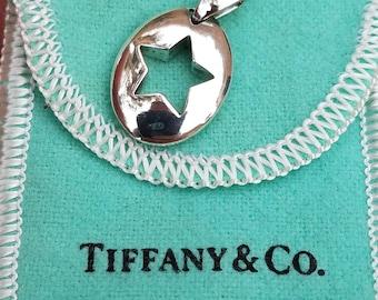 Vintage,Tiffany & Co Sterling Silver Stencil Star Pendant,Tiffany Necklace,Stencil Star Necklace,Vintage Tiffany and Co Silver Necklace