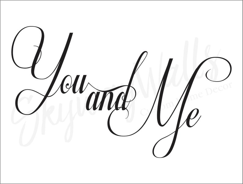 You and Me Vinyl Wall Decal