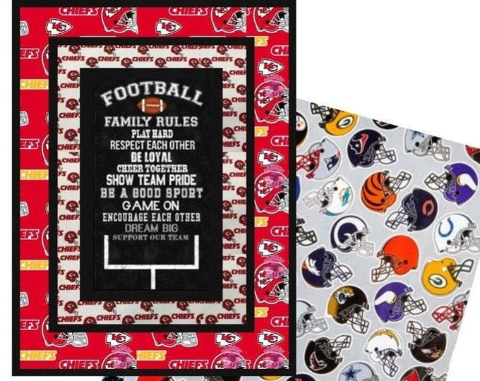 Featured listing image: Football Family Rules Quilt