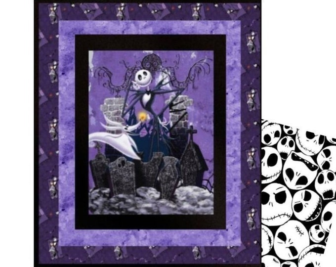 Featured listing image: Nightmare Before Christmas Quilt