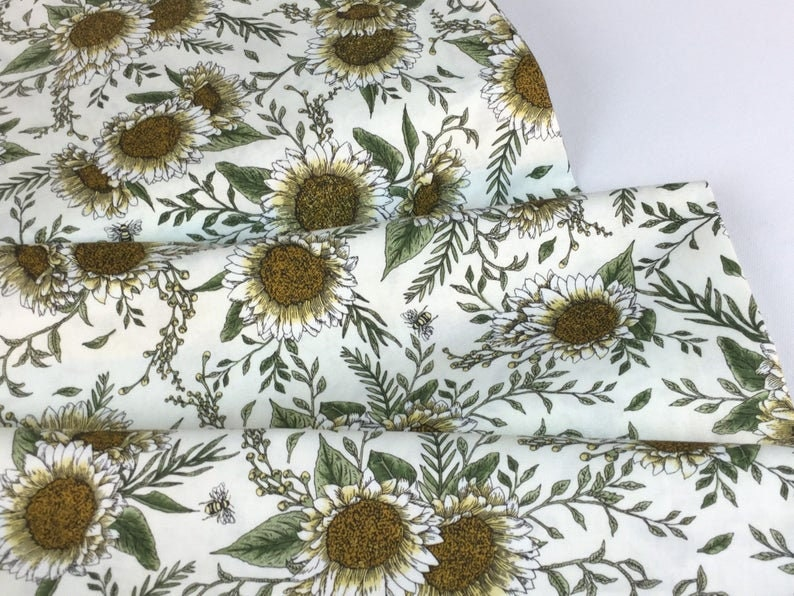 twin size Sunflower crib size patchwork quilt Daisy Bees king size queen size Quilt for sale baby quilt Quilt full size