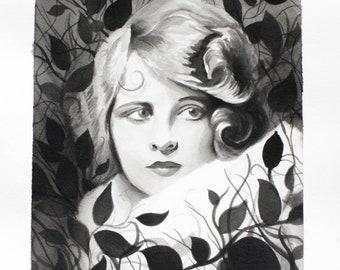 Original 'Leaves Lady' Painting