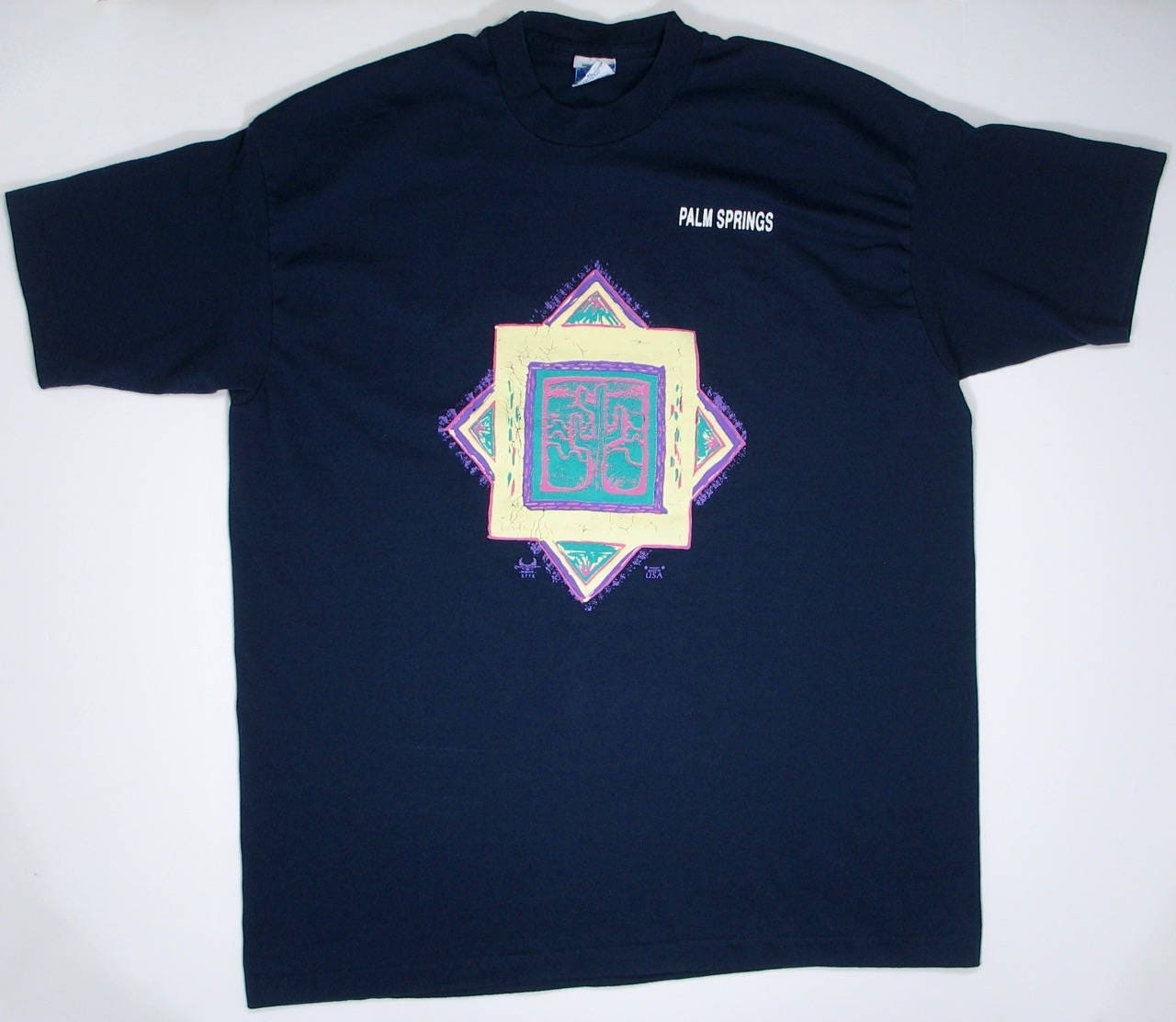 07e7576b6 Vintage Palm Springs T Shirt California L/XL soft tee navy | Etsy