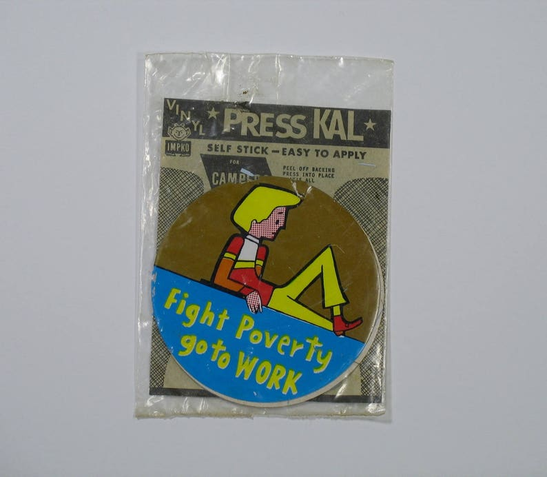Vintage NEW YORK travel auto vinyl sticker Press Kal IMPKO 1970s