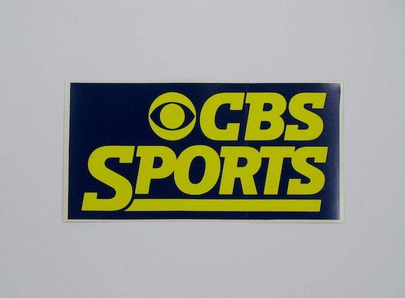Vintage Cbs Sports Bumper Sticker Decal Television Logo Etsy