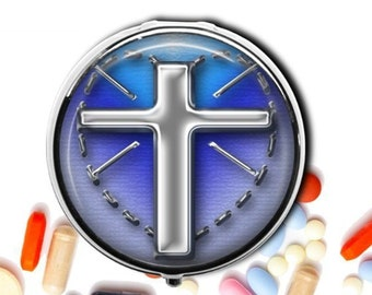 Religious pill box | Etsy