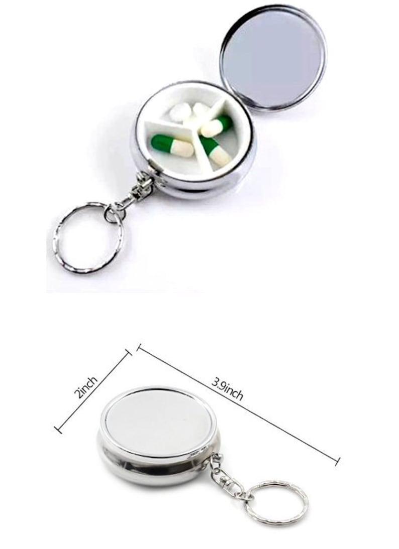 Pill Box,Pill Organizer,Travel Pocket Storage Pill Holder,Pill Case for Purse,Magnets,Cell Phone Grips,Key Chain Pill Box  24 Patterns!