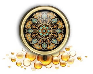 Pill Box,Pill Organizer,Travel Pocket Storage Pill Holder,Pill Case for Purse,Magnets,Cell Phone Grips,Key Chain Pill Box 9 Patterns!