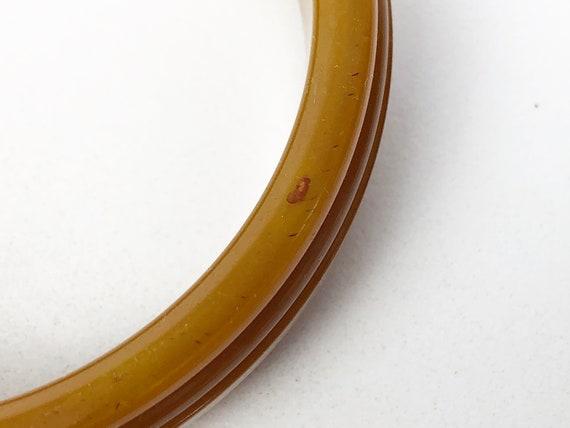 Vintage Bakelite Bracelet, Butterscotch Bakelite … - image 7