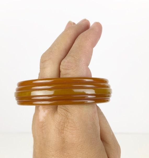 Vintage Bakelite Bracelet, Butterscotch Bakelite … - image 8