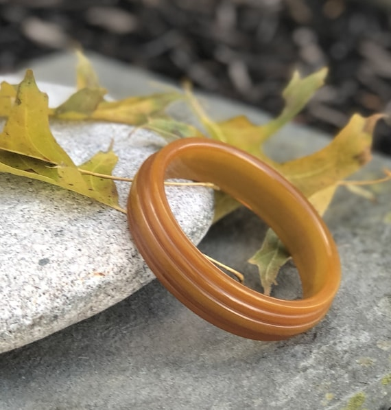 Vintage Bakelite Bracelet, Butterscotch Bakelite … - image 9