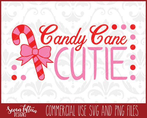 Candy Cane Cutie Christmas Svg Cut File Png Commercial Etsy