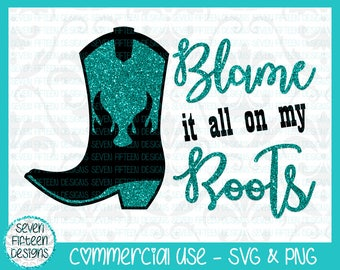 Blame it all on my Roots - Garth Brooks Song Lyric SVG - Commercial Use OK