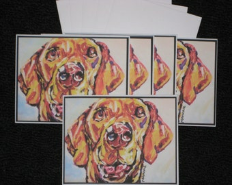Yellow Labrador Note Cards