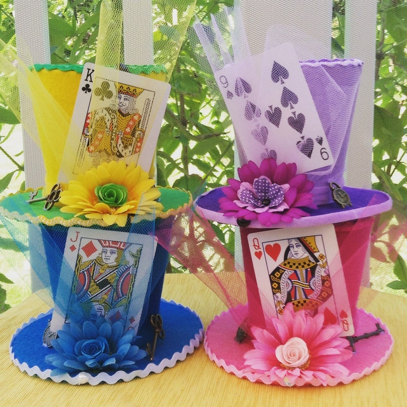 Mad Hatter Tea Party Decorations Set Of 4 Alice In Etsy